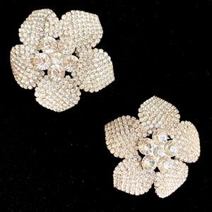 Sparkly Floral Brooch